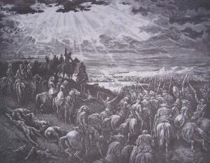 Josué ora a Dios y el sol se detiene (Gustave Doré 1883)